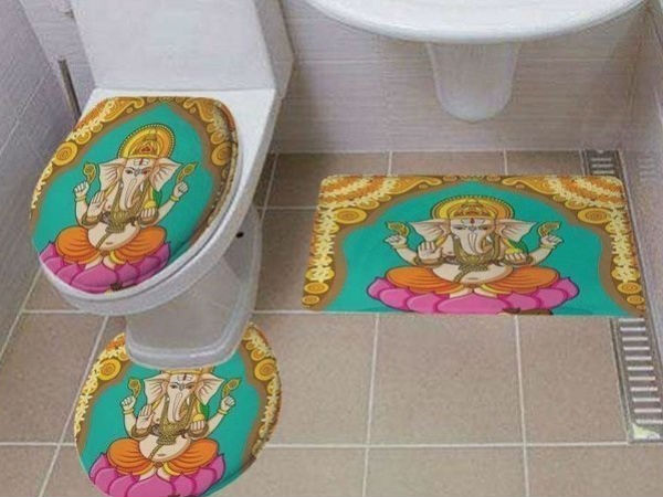 Amazon sells toilet covers with Hindu gods Photos on its portal