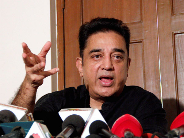 Slippers were thrown at actor-turned-politician Kamal Haasan