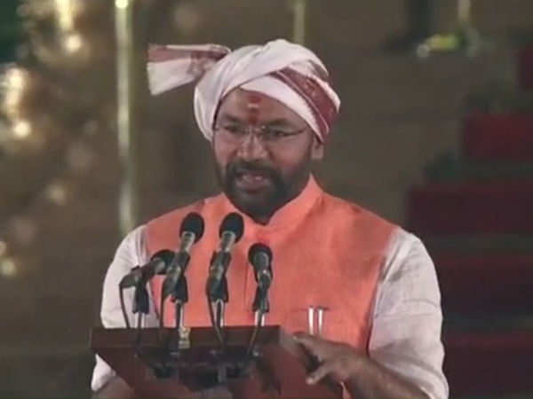 kishan reddy oath ceremony mistakes president corrected