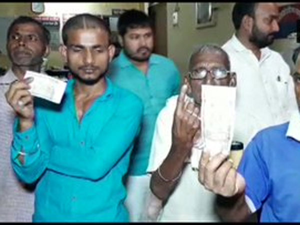 Residents of UP village allege conspiracy, say ink applied to finger before voting