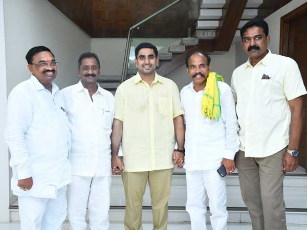 After Poll results, first time Nara Lokesh meets Party workers