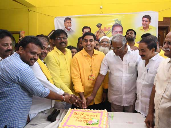 Nara Lokesh participate in NTRs Birth day celebrations at Mangalagiri