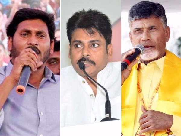 Chandrababu and YS Jagan, Pawan supervising Counting with their home