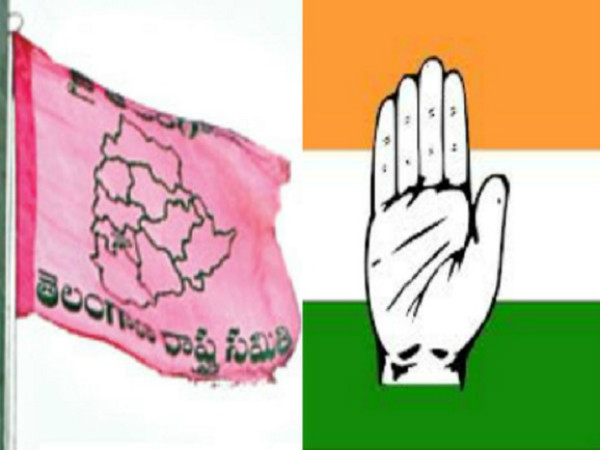 trs congress cadre street fight in nalgonda district