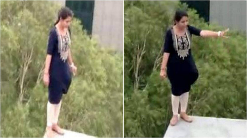 Gurugram: Woman threatens to jump off five-storey building of company
