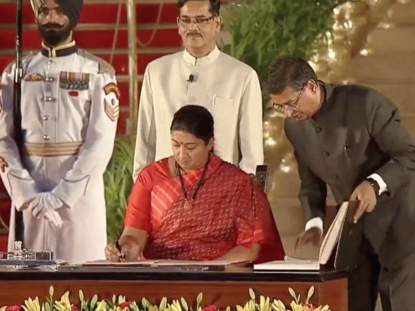 Smriti Irani emerged as the youngest in the MOdis government