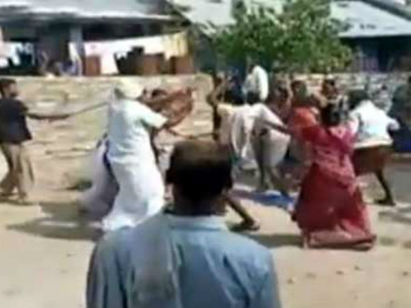 tdp, ycp workers fight at gurajala for water