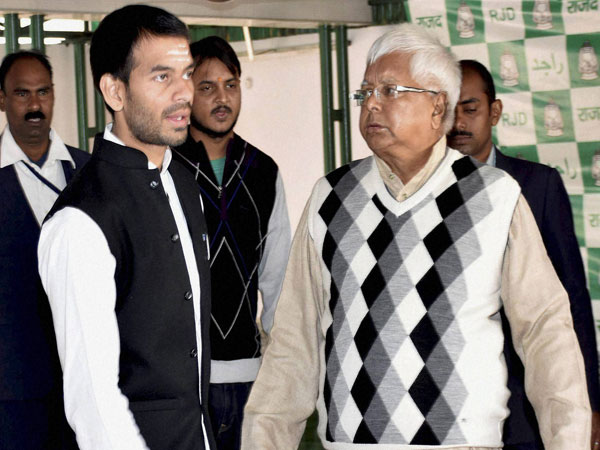 Tej Pratap tweets Miss you papa, after not given chance to speak at Rahuls rally
