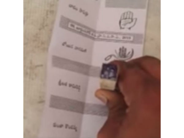 One Voter taken video while Cast his Vote EC may taken action