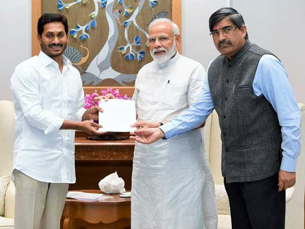 Chief Secretary of AP LV Subrahmanyam included in the team, which was met Modi