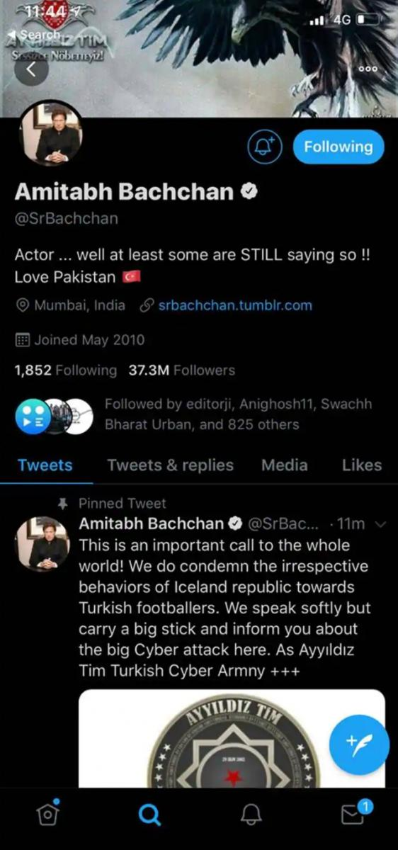 Amitabh Bachchans Twitter Account Hacked, Profile Picture Changed to Pakistan PM Imran Khans
