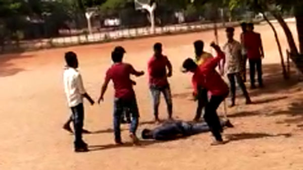 Gang war between college students at Anantapur Arts College
