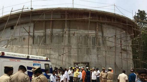 Three killed 15 injured after a underconstruction water tank collapsed in Bengaluru