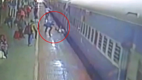 Man Miraculously Survives After Falling Between Moving Train And Platform