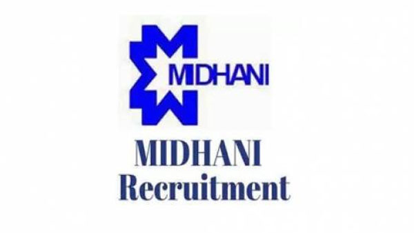 MIDHANI recruitment 2019 apply for 22 Various Post