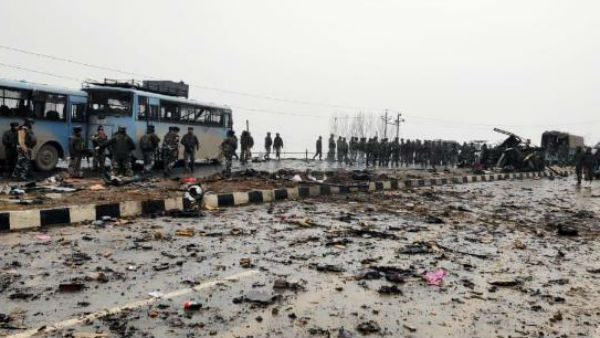 An army vehicle was targeted with an ied in Jammu and Kashmirs Pulwama