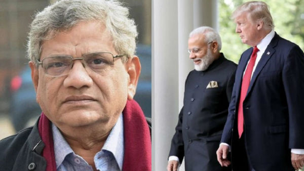 India threatened and insulted, PM told off: Sitaram Yechury after Donald Trumps tweet