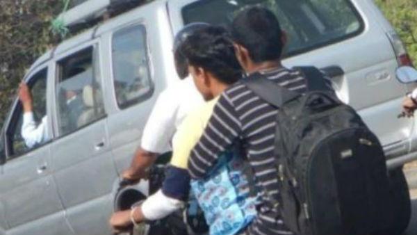ట్రిపుల్ రైడింగ్ అంటూ ట్రాఫిక్ చలానా.. తీరా ఫోటో చూస్తే దిమ్మ తిరిగింది