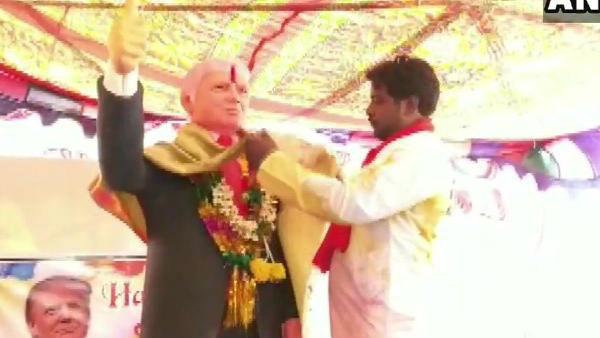 ఇంట్రెస్టింగ్: తెలంగాణలో ట్రంప్ విగ్రహం ...ప్రత్యేక పూజలందుకున్న అమెరికా అధ్యక్షుడు
