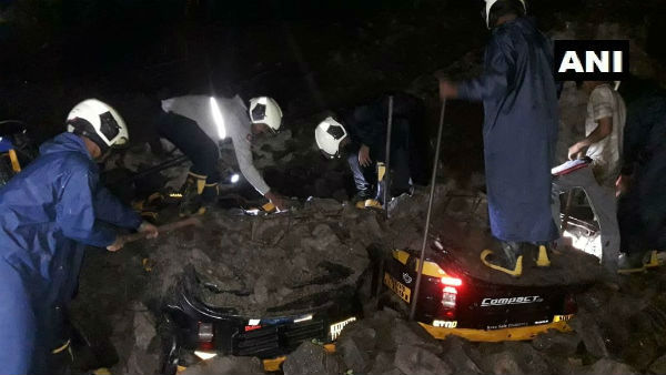 At least 17 people were killed in wall collapse following rains in Pun