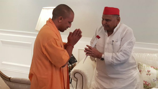 UP CM Yogi Adithyanath meets SP leader Mulayam Singh Yadav