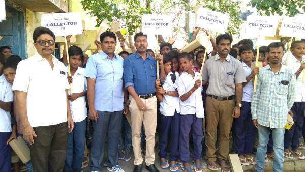 Anantapur Collector buys slippers to poor students being hailed by many