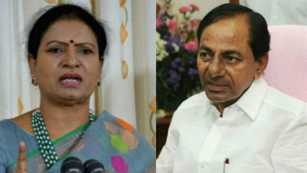 dk aruna bjp leader fires on cm kcr about 200 crores to his village