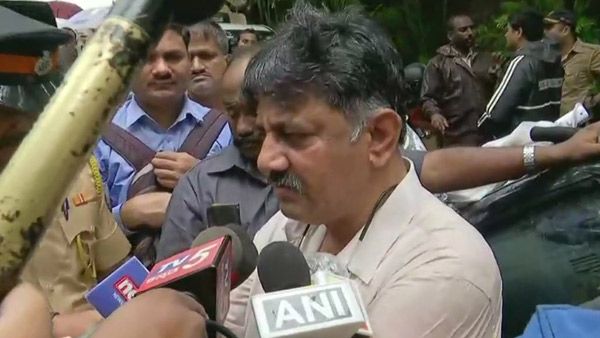 Minister DK Shivakumar now is in Mumbai to bring back dissident MLAs of Karnataka.