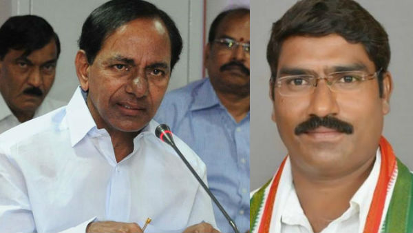 congress ex mla sampath kumar fires on cm kcr