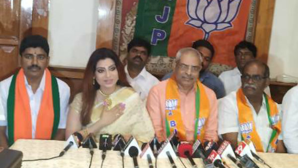 Actress Priya Raman joins in BJP AP at Tirupati