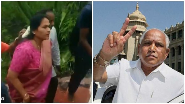 BJP MP Shobha Karandlaje climbs 1001 steps of Sri Chamundeshwari Devi Temple to pray for Yeddyurappa to become the next CM