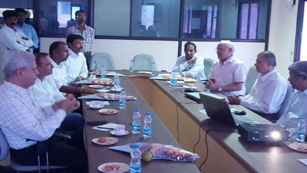 IMR Company representatives has visits Brahmani Steel Plant in Kadapa District