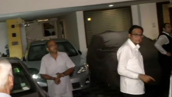 ED Teams also reached p chidambaram house and crowded with congress seniors also