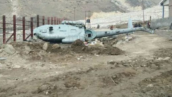 Chopper carrying flood relief material crashes,All three killed