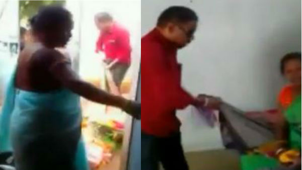 Chhattisgarh govt hostel superintendent Husband Dragging A Woman