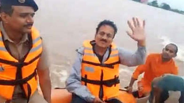 Maharashtra minister selfie videos controversy in flood affected areas tour