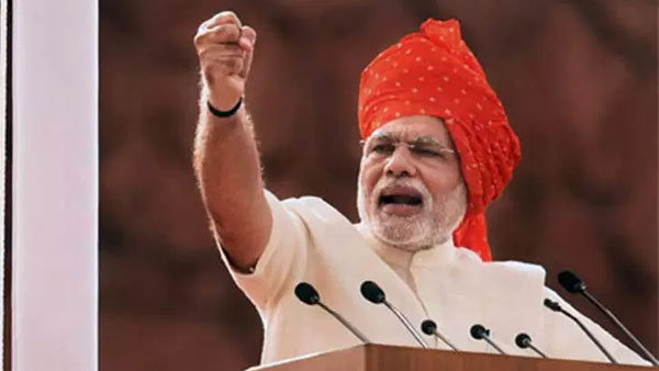 pm modi another feet.. red fort his sixth speech