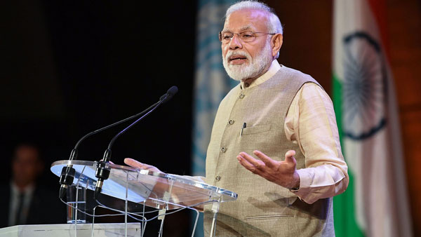 Indians gave a massive mandate to create New India,says Modi in France
