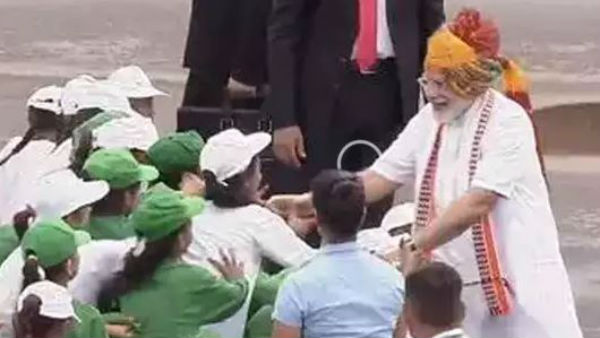 Independence Day celebrations at red fort PM Modi meets children