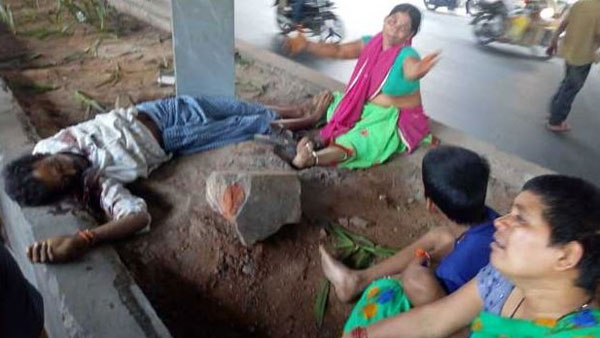 56 year old person murdered in Khairatabad