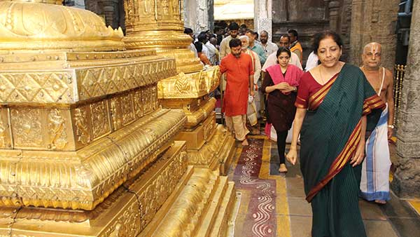 Union Minister Nirmala Sitaraman offered prayers to Lord Balaji in Tirumala