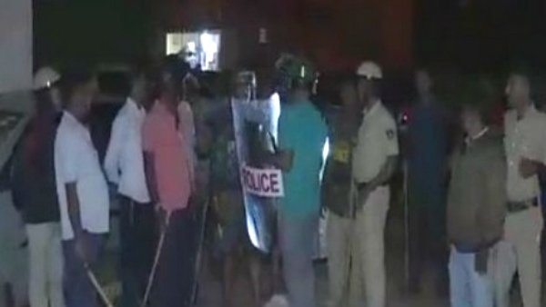 Suspicious man rushed to the police Residential Houses in Chikkaballapur in Karnataka