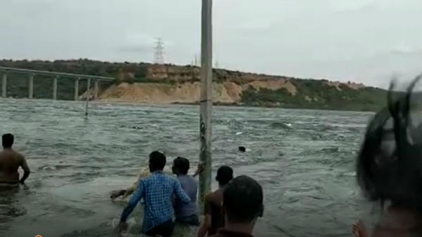 A young man Drown in the stream of Nagarjuna Sagar water flow.