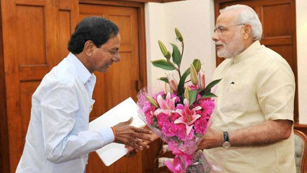 Telangana CM KCR wishes to Prime Minister Narendra Modis birthday