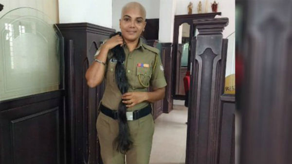 Kerala Police woman Cop donated her hair for cancer patients