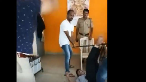 Bengalurus cop of Subramanyanagar thrashing an accused goes viral
