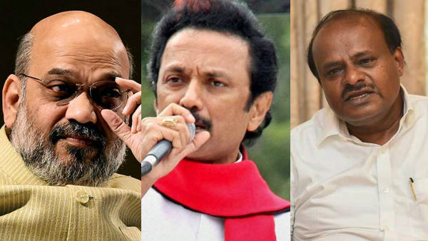 Amit Shahs Hindi push sparks outrage among state leaders, Stalin, Kumaraswamy join attack