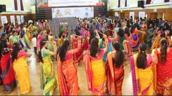 London Nri Bathukamma Festival In Grand Way