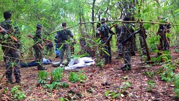 Five maoists killed in encounter in AOB area