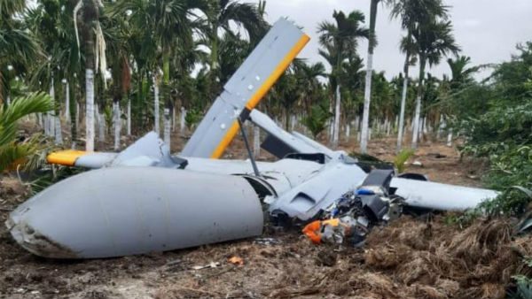 DRDOs pilot less drone Rustum 2 crashed on the outskirts of Jodhichikenahalli village in Karnataka